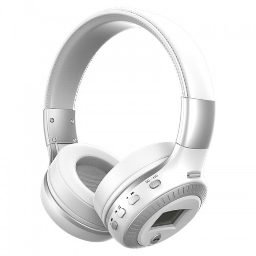 Zealot B19 Folding Headband Bluetooth Stereo Music Headset with Display & Handsfree Call Function for iPhone / Samsung / LG / HTC / Nokia / Blackberry Mobile Phone (White)