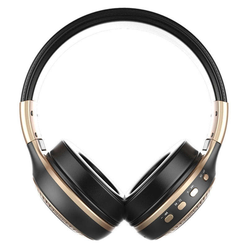 Zealot B19 Folding Headband Bluetooth Stereo Music Headset with Display & Handsfree Call Function for iPhone / Samsung / LG / HTC / Nokia / Blackberry Mobile Phone (Gold)