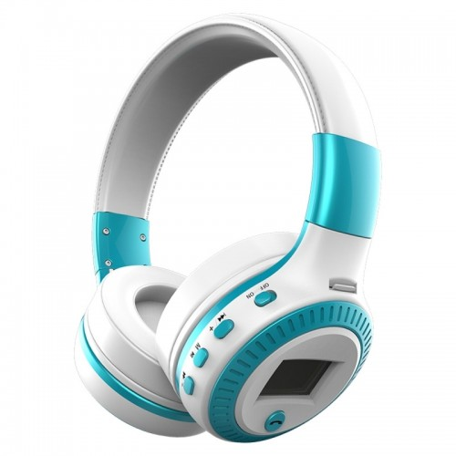 Zealot B19 Folding Headband Bluetooth Stereo Music Headset with Display & Handsfree Call Function for iPhone / Samsung / LG / HTC / Nokia / Blackberry Mobile Phone (Blue)