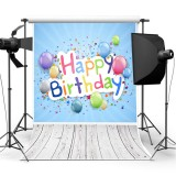 5x7FT Vinyl Floor Happy Birthday Photography Backdrop Background Studio Photo Props