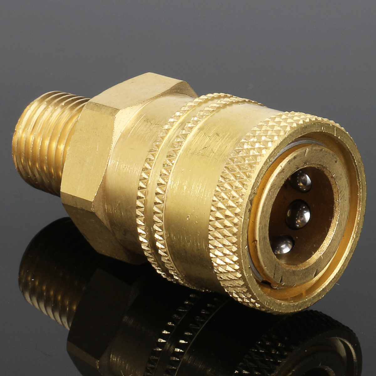 Inch male npt quick coupler socket brass pressure