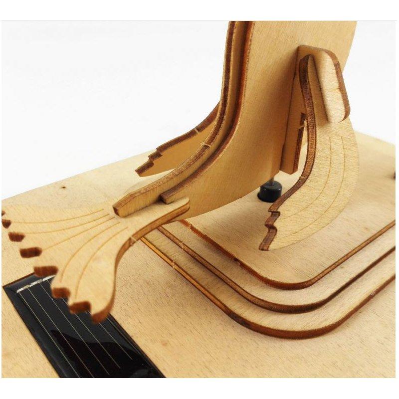 3D Educational Solar Powered Toys Energy Sea lion Kits Brick Block Wood Puzzle Model Toys