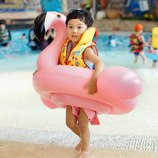Vvcare BC-SW001 Children Inflatable Swimming Float Baby Flamingo Swan Swimming Ring Seat Boat