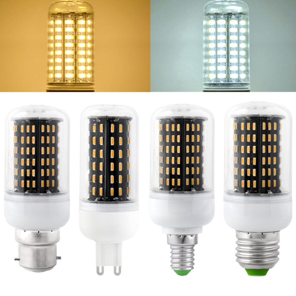 E27 E14 B22 G9 7W SMD 4014 LED Black Corn Bulb Lamp Indoor Home ...