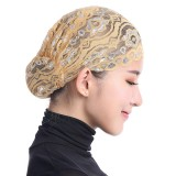 Women Muslim Shiny Lace Head Coverings Headscarf Hat Islamic HeadWear Cap Scarf Hijab Undercaps