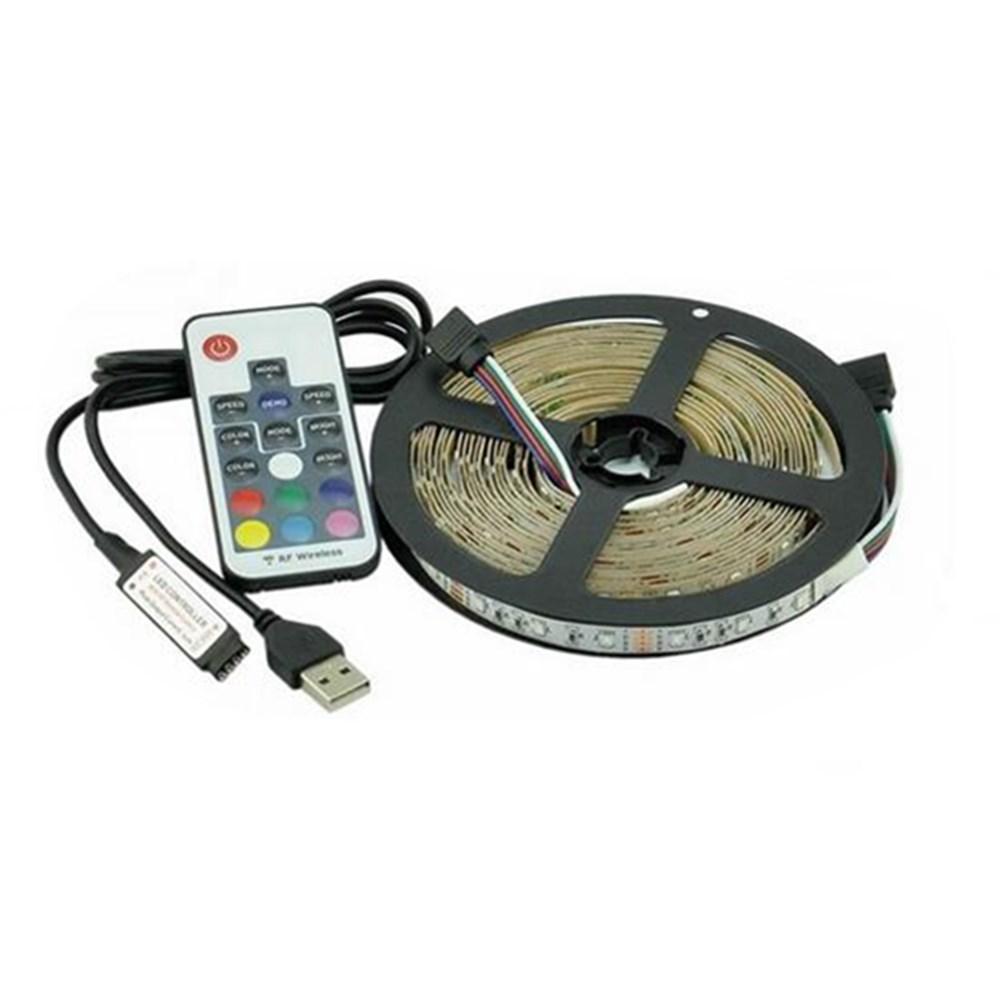 2M 3M 5M USB SMD 2835 RGB TV Background Lighting Kit Strip Light With 17Keys RF Remote DC5V