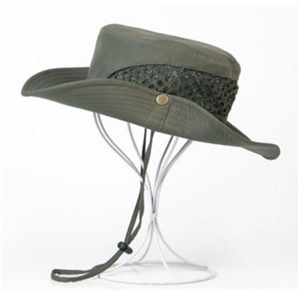 Men Foldable Mesh Breathable Fisherman Hat Summer Fishing Sun Protaction Bucket Visor Cap