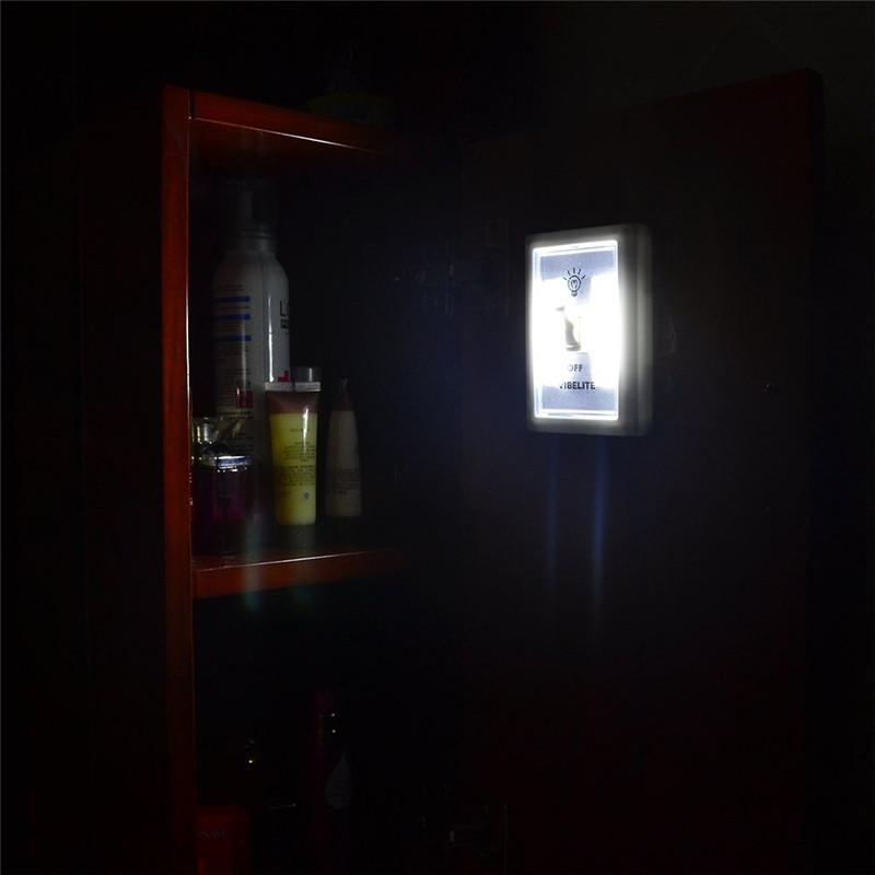 4X COB LED Bulb Night Light Wall Switch Self-Stick Closet 6000K White Bright Alex NLD
