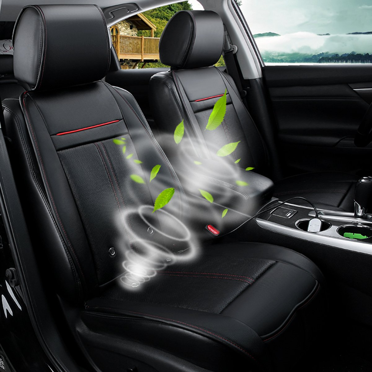 3 In 1 Electric Auto Ventilation Seat Cushion Cooling Heating Massage Multifunction