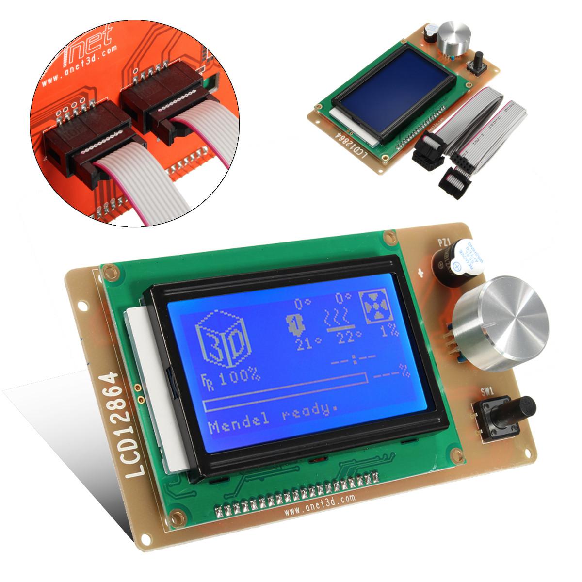 Adjustable 12864 Display LCD 3D Printer Controller Adapter For RAMPS 1 4  Reprap