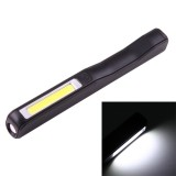 100LM COB LED 2-Modes High Brightness Pen Shape Work Light / Flashlight with 90 Degree Rotatable Magnetic Pen Clip, White Light (Black)