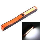 100LM COB LED 2-Modes High Brightness Pen Shape Work Light / Flashlight with 90 Degree Rotatable Magnetic Pen Clip, White Light (Orange)
