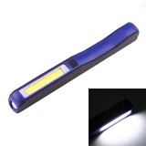 100LM COB LED 2-Modes High Brightness Pen Shape Work Light / Flashlight with 90 Degree Rotatable Magnetic Pen Clip, White Light (Blue)