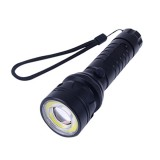 Elfeland XM-L T6 2000LM 4Modes Body Switch Zoomable LED Flashlight 18650/AAA