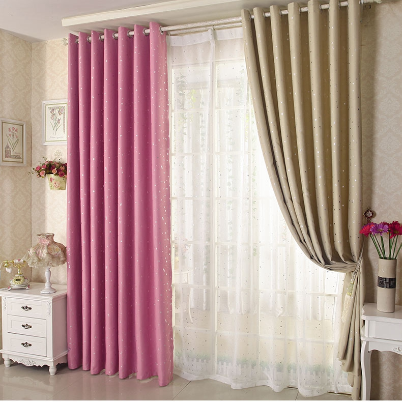 Honana wx c13 sky star blackout curtains thermal insulated for Thermal star windows