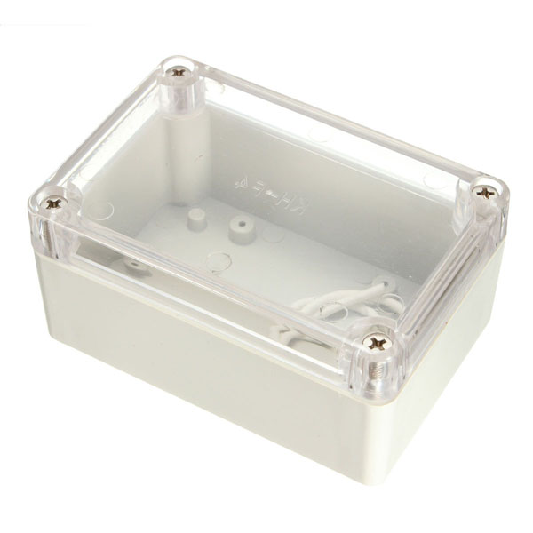 White Plastic Waterproof Electronic Custodia PCB Box 100x68x50mm