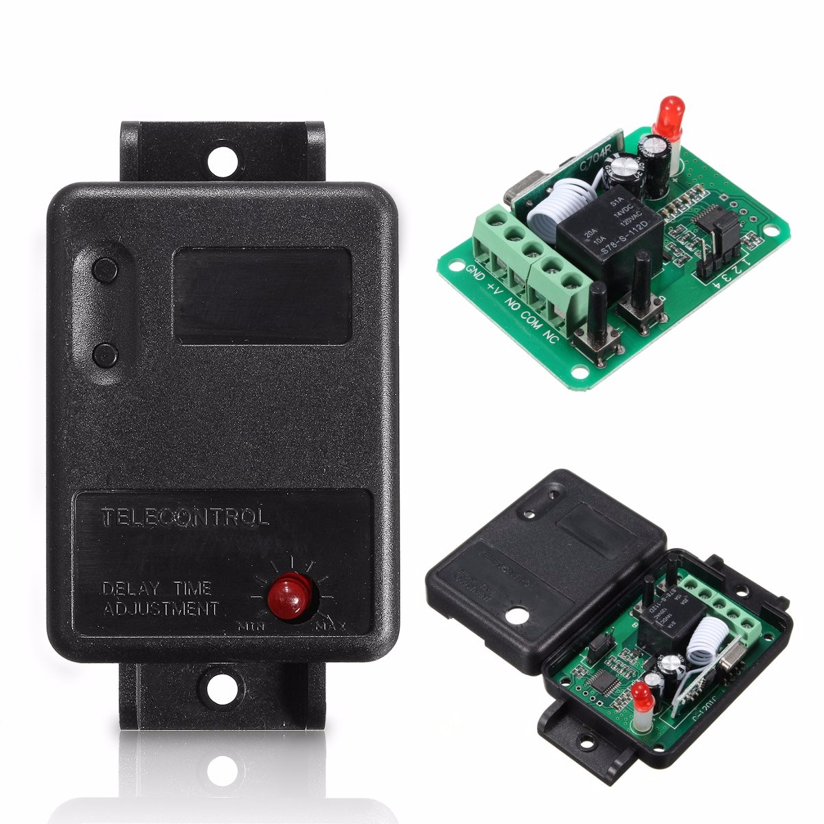 Dc12v 1ch 315 433mhz Wireless Time Delay Relay Rf Remote Control Component Switch Circuit What Do I Need Receiver