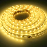 12W 120 LEDs SMD 5050 Casing IP65 Waterproof  LED Light Strip with Power Plug, 60 LED/m, 2m, AC 220V (Warm White)