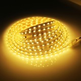 30W 300 LEDs SMD 5050 Casing IP65 Waterproof  LED Light Strip with Power Plug, 60 LED/m, 5m, AC 220V (Warm White)