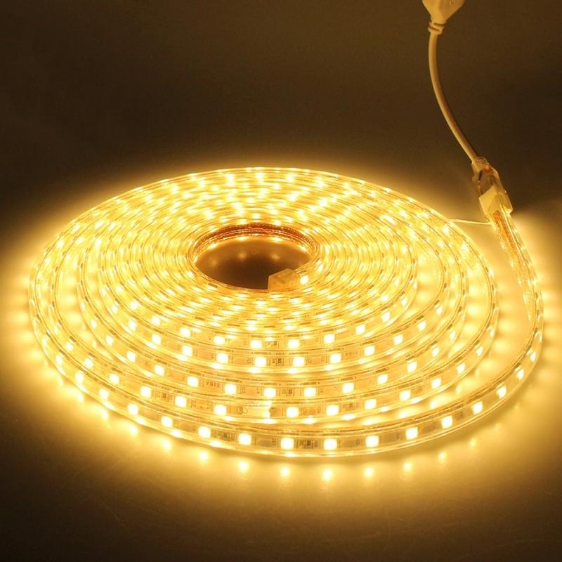72W 360 LEDs SMD 5730 Casing IP65 Waterproof  LED Light Strip with Power Plug, 72 LED/m, 5m, AC 220V (Warm White)