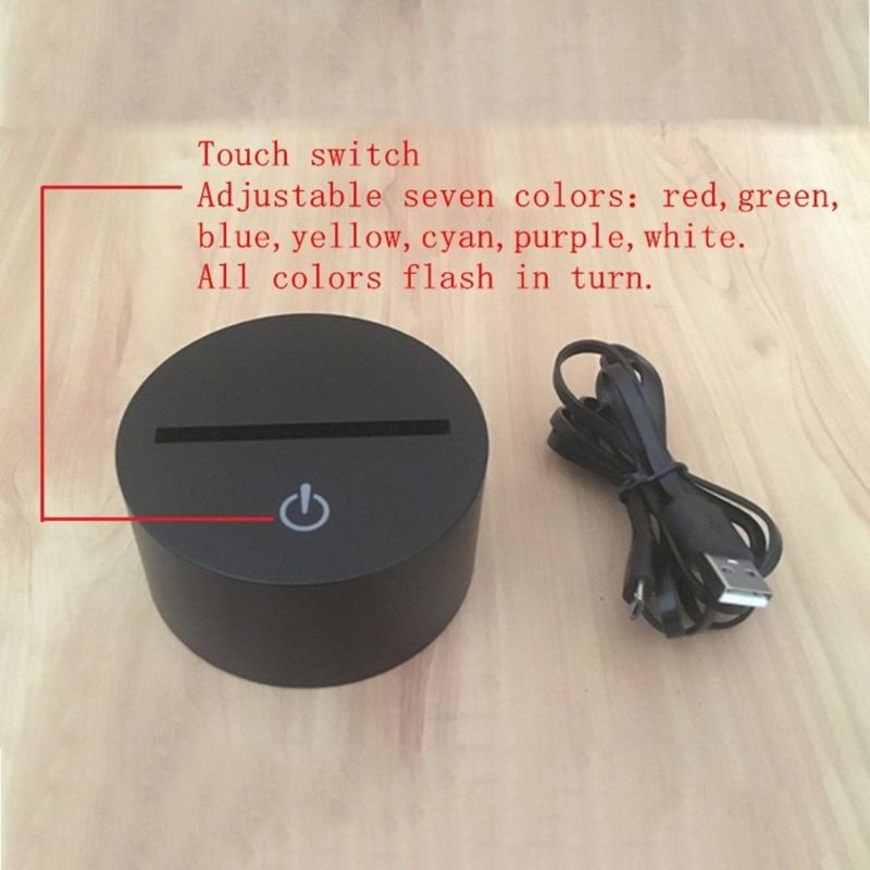 Dolphin Heading the Ball Style USB Charging 7 Colour Discoloration Creative  Visual Stereo Lamp 3D Touch Switch Control LED Light Desk Lamp Night