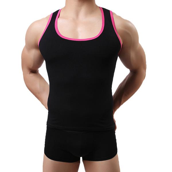 Summer Men's Fitness Casual Fitness Tank Tops Slim Body Sport Vest