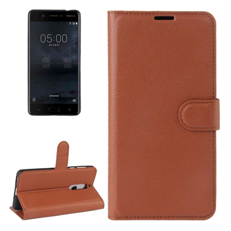 For Nokia 5 Litchi Texture Horizontal Flip Leather Case ...