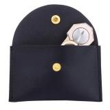Fidget Hand Spinner Triangle Finger Toy Fingertip Gyro Rectangular Genuine Leather Case Good Bag without Fingertip Gyro, 10 x 9cm (Black)