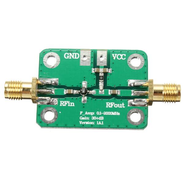 3Pcs 0.1-2000MHz RF Wideband Amplifier Gain 30dB Low-noise Amplifier LNA Board Module