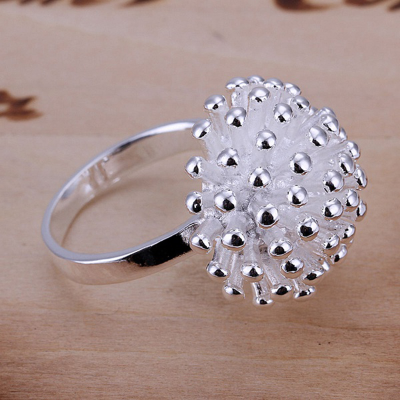 925 Sterling Silver Plated Earring Ring Open Bracelet Necklace Jewelry Set