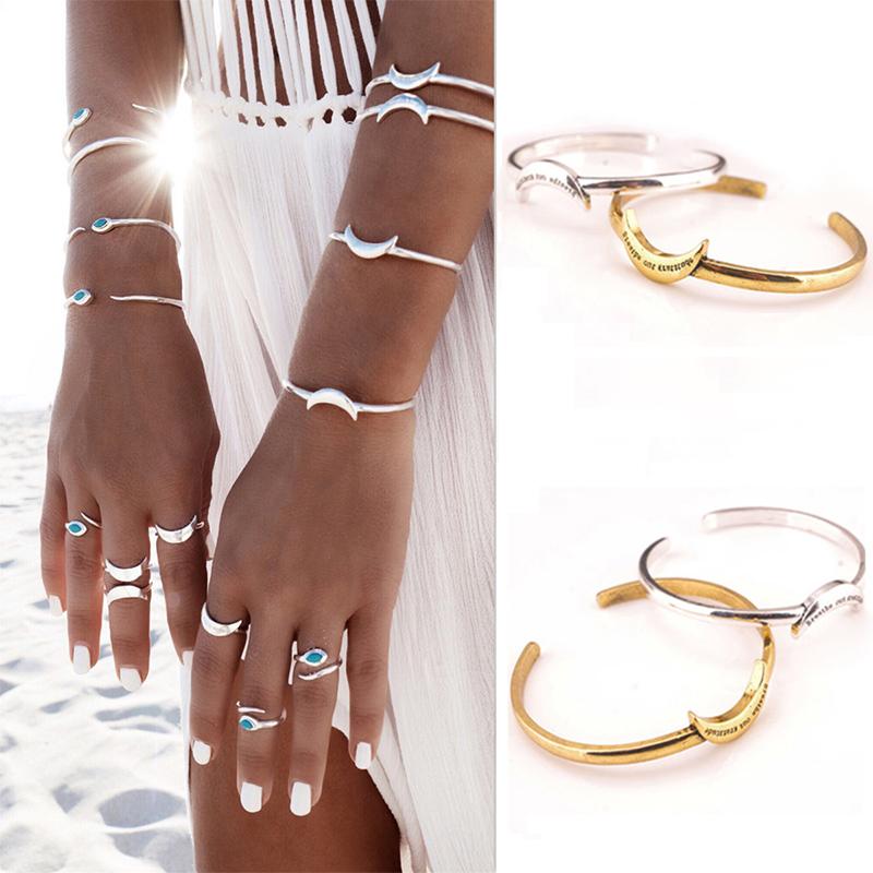 8Pcs Set Women Bohemian Vintage Carved Gold + Silver Plated Moon Open Cuff Bracelet Ring · 1458098135_5129.jpg · 1458098126_183.jpg · 1458098126_703.jpg ...