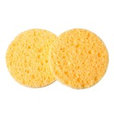 1Pc Natural Wood Fiber Face Wash Cleansing Round Sponge Beauty Makeup Tools