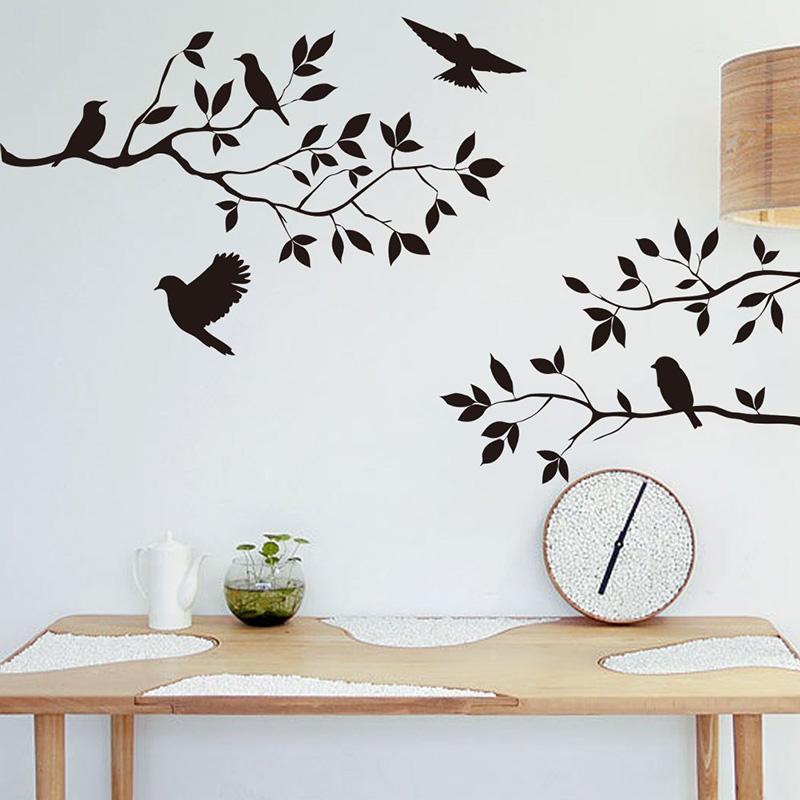 Tree Bird Removable Wall Sticker Vinyl Art Decal Mural Home Room