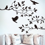 Tree & Bird Removable Wall Sticker Vinyl Art Decal Mural Home Room DIY Decor