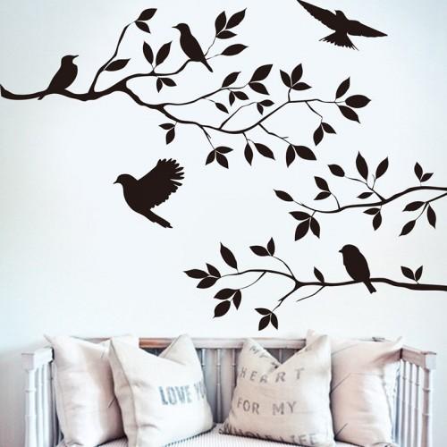 Tree & Bird Removable Wall Sticker Vinyl Art Decal Mural Home Room DIY Decor