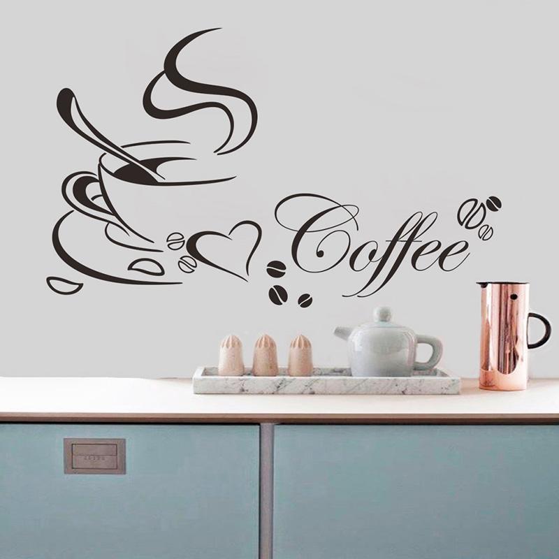 Romantic Coffee View Wall Sticker Vinyl Home Bedroom Decor Cool