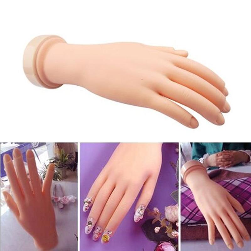 Flexible Soft Plastic Flectional Mannequin Model Hand Nail Art