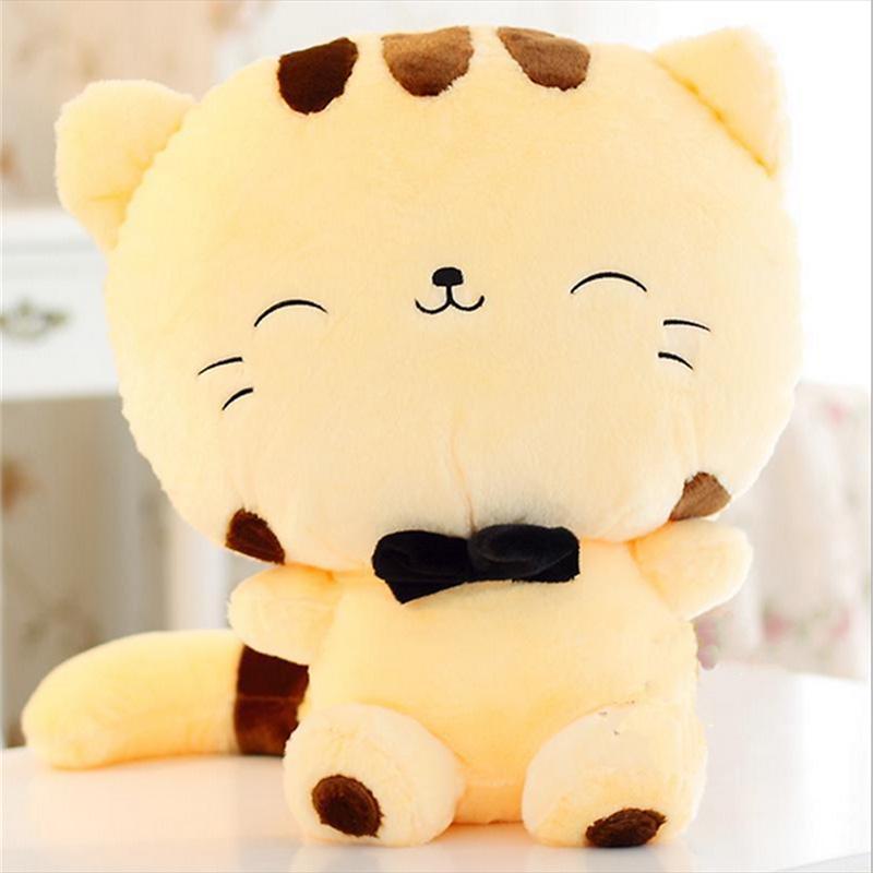 Plush Stuffed Toys : Cm cute big face smiling cat plush doll cushion fortune