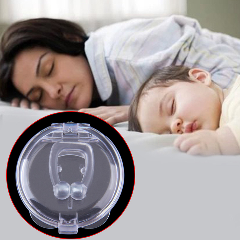 Magnets Silicone Snore Free Nose Clip Anti Snoring Aid Snore Stopper Device