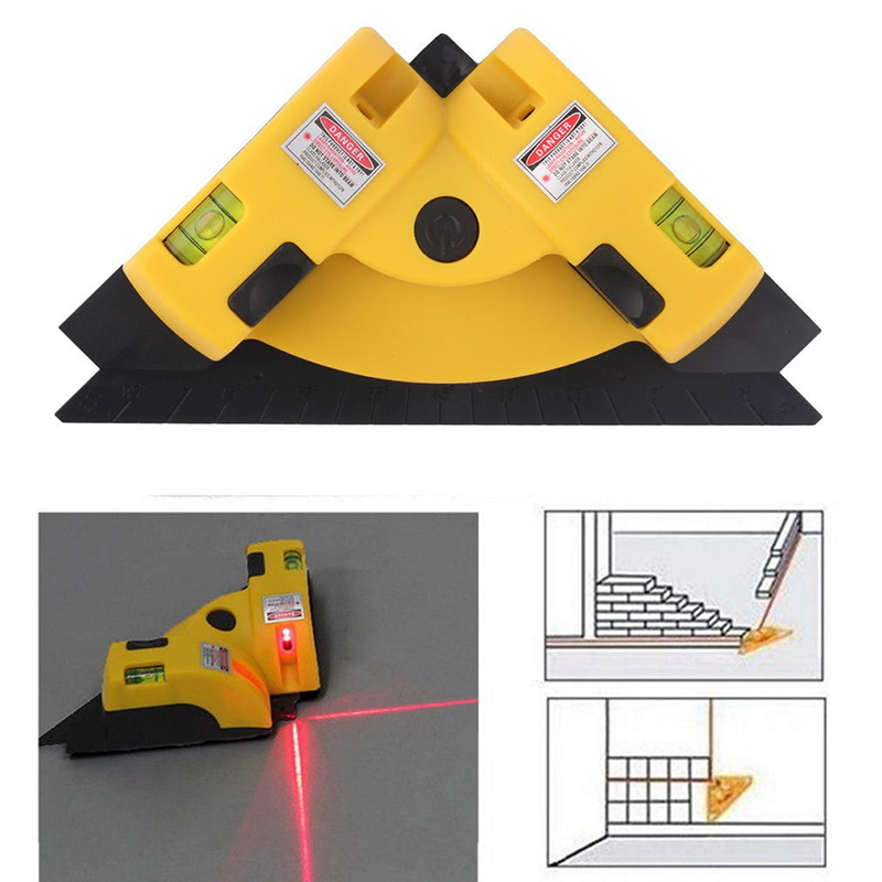 Vertical Horizontal 2 Laser Line Right Angle Mouse Shaped Laser Level Measurers