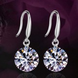 Fashion 925 Sterling Silver Women Crystal Rhinestone Ear Stud Earring Jewelry
