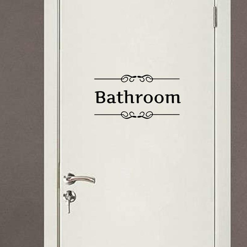 Retro Toilet Bathroom Door Wall Sticker Decor Decoration Wall Art Alexnld Com
