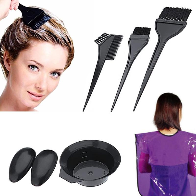 5pcs Hairdressing Brushes Bowl Combo Salon Hair Color Dye Tint Diy