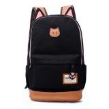 Backpack Women Cute School Cat earShoulder Bag Rucksack Canvas Travel bags