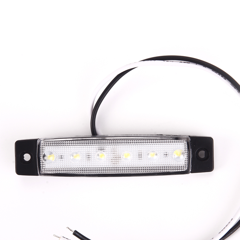 1 x 12V 6 LED Truck Boat BUS Trailer Side Marker Indicators Light Lamp