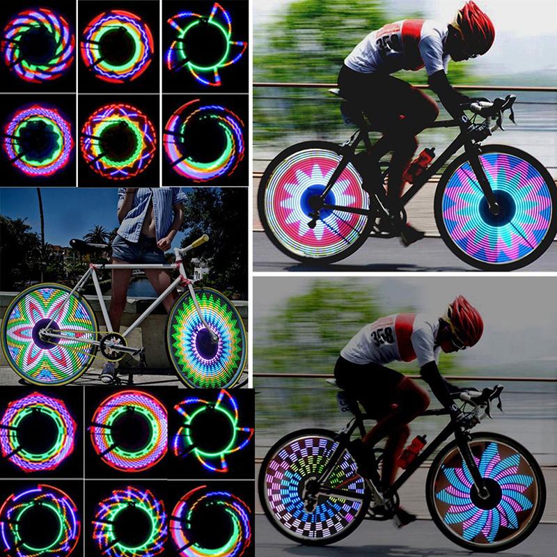 Neon Fancy Flash 7LED Light Lamp Bike Bicycle Wheel Tire Spoke Valve Cap Coloful