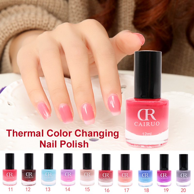 Professional Thermal 12Ml Color Changing Nail Art Cosmetic Party ...