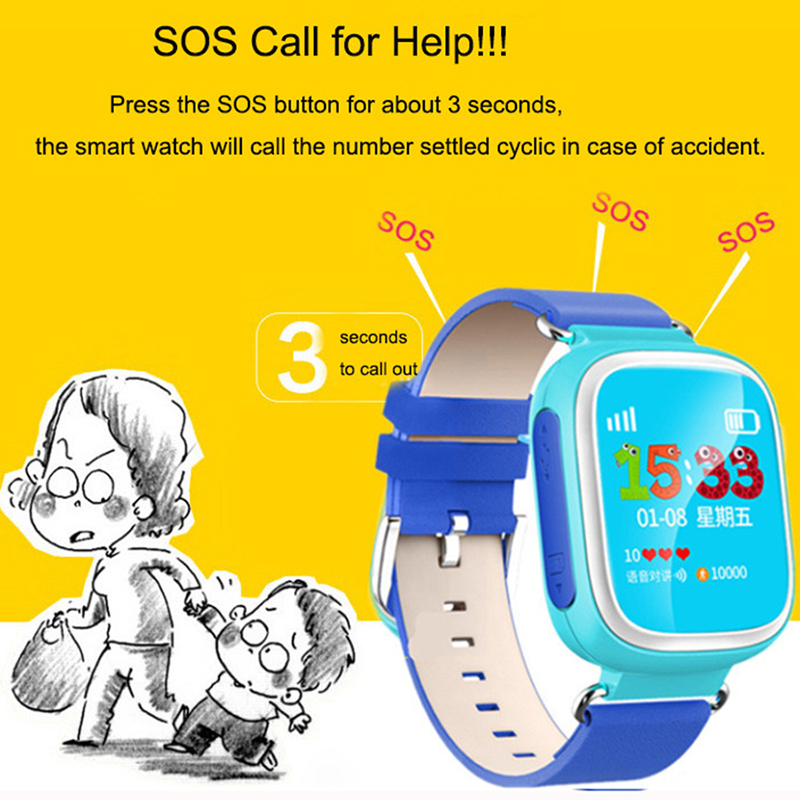 Kids Smart Watch Wristwatch Phone SOS Call Location Anti Lost Tracker