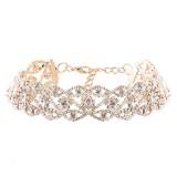 Luxury Diamond Crystal Rhinestone Pendant Choker Collar Gold Silver Chain Necklace Women Jewelry