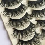 Makeup 5 Pairs Handmade Natural Long Fake Eye Lashes Thick False Eyelashes Black